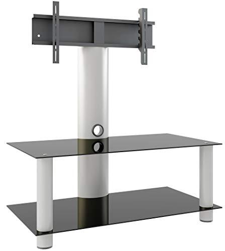 """VCM TV Rack Lowboard Konsole Fernsehtisch Möbel Glastisch Tisch Mobil Rollen Schrank Bank aluminium Glas \""""Valeni Mini\"""""""