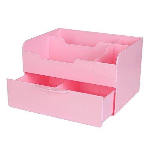GSHWJS Estante Cosmético De Almacenamiento con Estuche Cosmético for Baño Estante (Color : Pink)