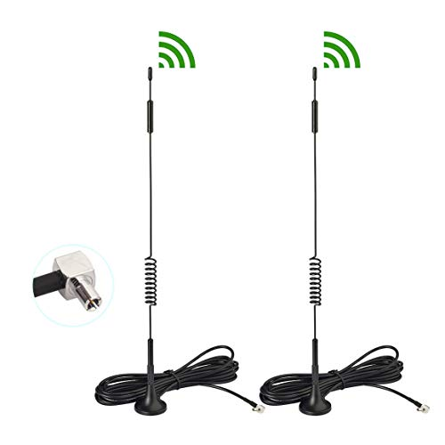 Bingfu 4G LTE 7dBi Magnetic Base External TS9 Aerial Antenna (2-Pack) Compatible with AT&T T-Mobile Sprint Netgear Huawei MiFi Mobile Hotspot Router USB Modem Jetpack AirCard AC791L AC815S AC770S