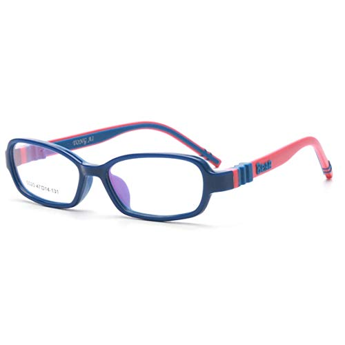 Ovesuxle Ovesuxle Kinder Brillengestell Silikon Nasenpads Brillengestell Brillen für Frauen (Color : Blue)