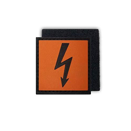 Copytec Tactical Hochspannung Blitz Strom Elektro Gefahr 3D Rubber Patch 4x4cm #16273
