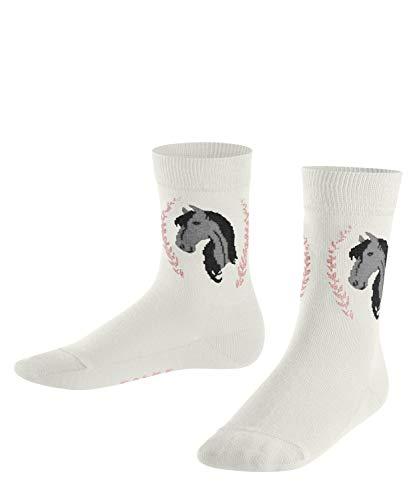 FALKE Unisex Kinder Horse K SO Socken, Weiss (Offwhite 2040), 35-38 (9-12 Jahre)