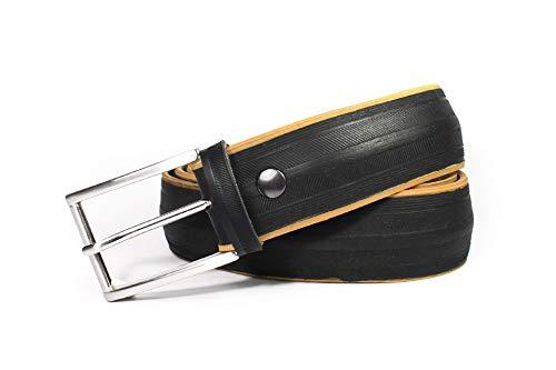 MNMUR - Cinturón de neumático reciclado de bicicleta hecho a mano. Tamaño: M/L