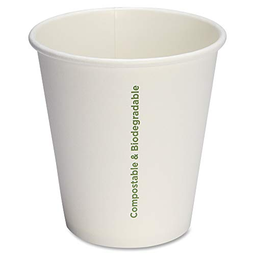 Genuine Joe GJO10214 Joe Eco-Friendly Paper Cup, 10 oz, White