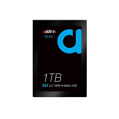 Addlink S22 1TB SSD QLC SATA III 3D NAND 6 GB/s 2,5 Zoll 7mm Interne Solid State Drive mit lesen 550MB/s schreiben 500MB/s