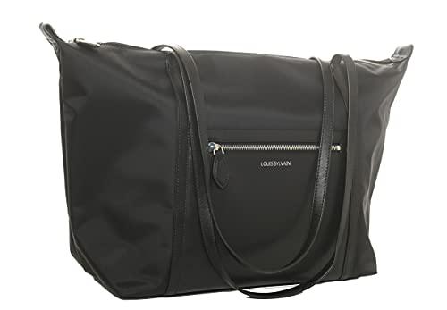 LOUIS SYLVAIN - Bolso de mano para horno, de tela revestida y piel auténtica, bolsa de gran volumen ARIANE XL, impermeable, ideal para el trabajo de fin de semana