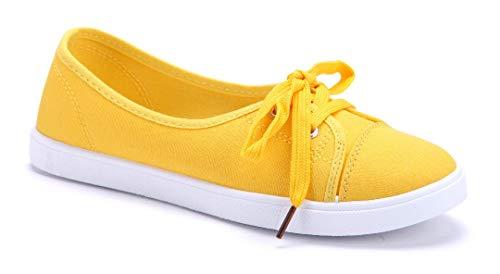 Schuhtempel24 Damen Schuhe Sportliche Ballerinas gelb flach