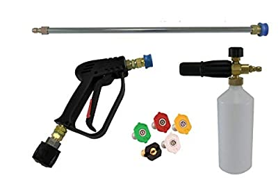 pwpuk Quick Release Gun Lance & Snow Foam Lance & Wash Nozzles Karcher K2 To K4 Inlet from pressurewasherpartsuk