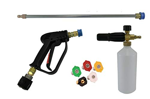 pwpuk Pressure Washer Quick Release Gun & Lance Wash Nozzles To Fit Karcher K5 To K7