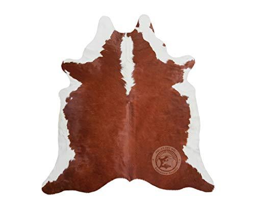Sunshine Cowhides Teppich aus Kuhfell, Farbe: Hereford Braun & Weiß, Größe 220 x 200 cm, Premium - Qualität von Pieles del Sol aus Spanien
