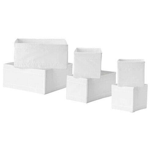 SKUBB - Box 6er-Set, weiß
