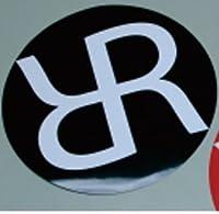 RASH Rサークルステッカー/ラッシュウェットスーツ サーフィン ブラック