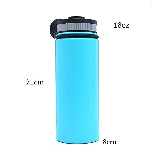 Wzmdd 530ml 950ml 1200ml Roestvrij Staal Vacuümflessen Thermos Cup Brede Mond Travel Mok Thermo Bottle Gifts Thermo Cup Blauw 950ml