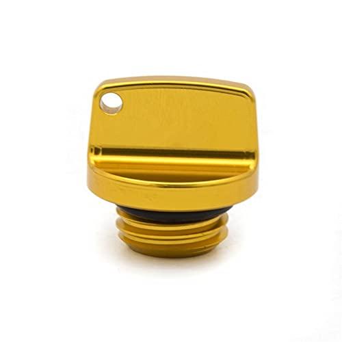 Tapas De Gasolina Decorativas Más Calientes para Honda CRM250R/AR CRF250L/M CRF250RALLY Series CNC Motor De La Motocicleta Tapón Llenado Aceite Accesorios Cubierta Tornillo (Color : Oro)