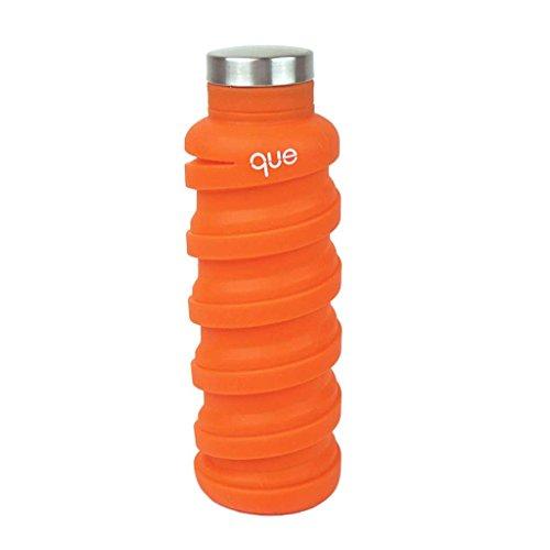 Que Bottle - Klappbare Wasserflasche,auslaufsicher, BPA-frei, wiederverwendbar, 590 ml, unisex Jungen Mädchen Herren damen, Sunbeam Orange