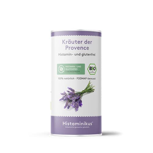 Histaminikus Kräuter der Provence, Bio Gewürzmischung (50g), hefefreies Naturprodukt ohne Geschmacksverstärker, histaminfrei, fodmap-bewusst, glutenfrei, vegan und geeignet bei Reizdarm