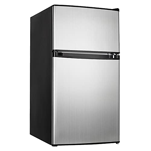 Mini Fridge with Freezer, 3.1 Cu.Ft Small Refrigerator,...