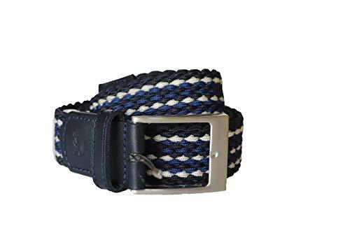 LERROS Herren Flechtgürtel blau weiß 5013002 (100)