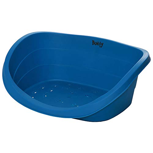Bunty Armadillo - Cama ovalada de plástico resistente, resistente al agua, color azul - XL