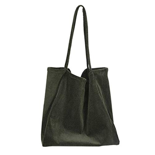 Shusuen Women's Canvas Hobo Handbags Simple Casual Top Handle Tote Bag Crossbody Shoulder Bag Shopping Work Bag Green