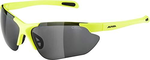 ALPINA JALIX Sportbrille, Unisex– Erwachsene, neon yellow-black, one size