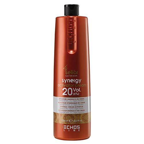 Echos Synergyactivator Crème 20 V (6%) activateur synergique en crème synergique de soie, lin, argan, kératine 1000 ml