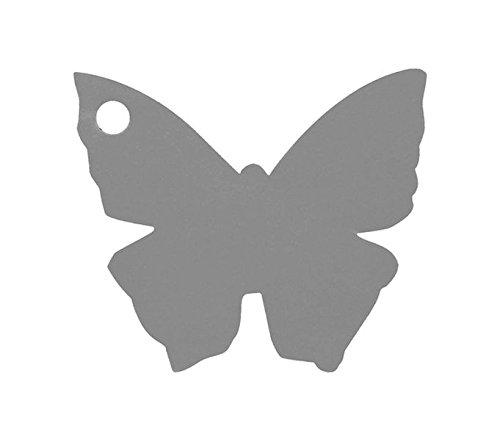 Chal - Etiquette Porte nom Papillon Gris x10