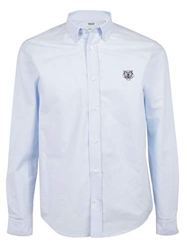 Luxury Fashion | Kenzo Heren FA55CH4001LD63 Blauw Katoen Overhemden | Lente-zomer 20