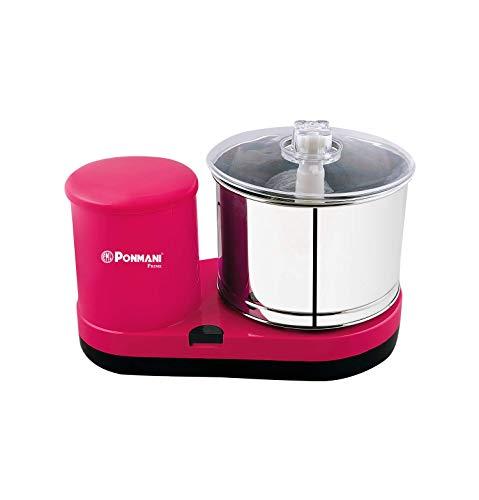 Ponmani Prime - 2Lit Table Top Wet Grinder (Pink), 180 Watt