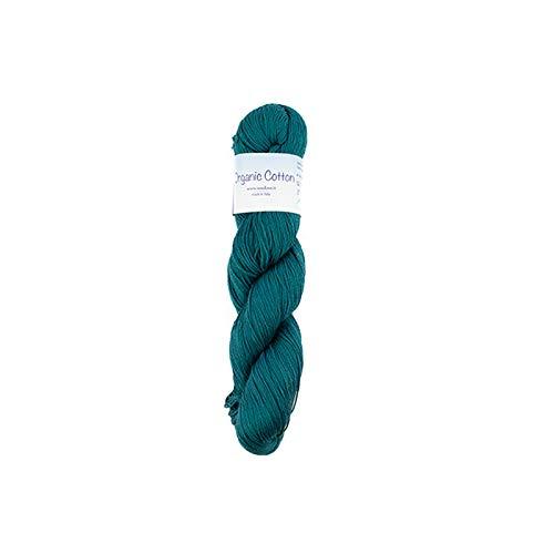 Organic Cotton - Morbidissime matasse da 100gr di Puro Cotone Biologico per Ferri, Uncinetto e telai 10 Ottanio