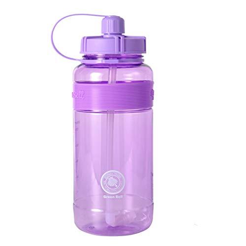 donfhfey827 Vaso para Beber de Gran Capacidad Vaso de plástico con Espacio de Paja 2L Regalo Transparente Botella de Deportes al Aire Libre de Gran Capacidad Personalizada de una Sola Capa