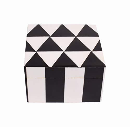 Hashcart Caja de madera decorativa hecha a mano india | Caja de recuerdos | Caja de joyería | Knick Knack Box para decoración