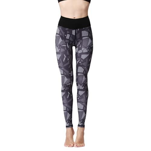QTJY Pantalones de Yoga para Mujer Pantalones Deportivos Estampados para Yoga Ropa Deportiva Fitness Cintura Alta Pantalones para Correr de Secado rápido FS