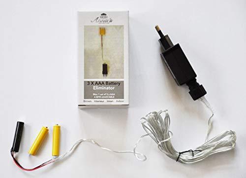 Coen Bakker Batterie Netzteil Adapter 3X AAA Micro Batterie 4,5V Wandler 4m Kabel Netzteil