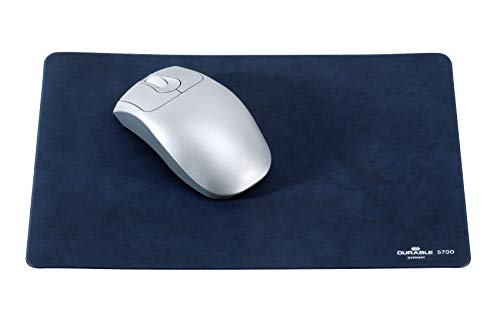 Durable 570007 Mausunterlage Mouse Pad extraflach, veloursähnlich, 300 x 200 x 2 mm, dunkelblau