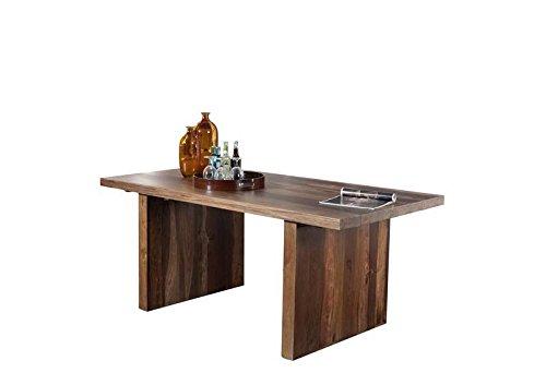 MASSIVMOEBEL24.DE Palisander Holz Möbel massiv lackiert Esstisch 200x100 Sheesham Massivmöbel Holz massiv walnuss Duke #101