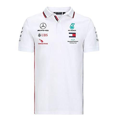 Mercedes-Benz Herren Mercedes AMG Petronas Team Poloshirt Polohemd, Weis, Large 108cm/42in Chest