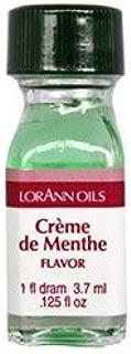 LorAnn Super Strength Crème de Menthe Natural Flavor, 1 dram bottle (.0125 fl oz - 3.7ml) - 2 pack