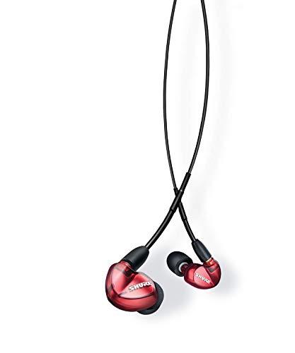 Shure SE535LTD+BT1-EFS Sound Isolating Ohrhörer – Bluetooth In-Ear Ohrhörer mit passiver Geräuschunterdrückung und drei hochauflösenden Treibern – Rot