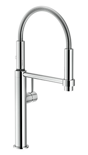 Franke FF4400 Pescara Single Handle Pull, 18.125 inch Ultra-Tall high arc Kitchen Faucet, Polished Chrome