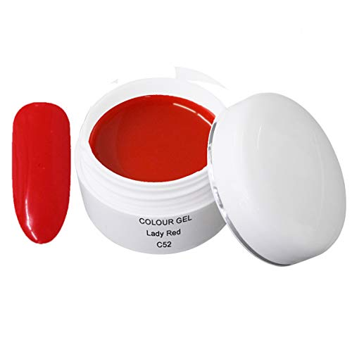 Gel de couleur LED/UV C52 Lady Red 5ml - Gel de couleur UV - Gel de couleur - Gel UV