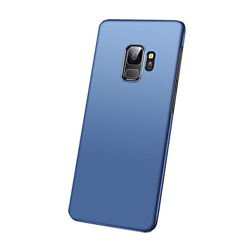Hexcbay compatibile con custodia Samsung Galaxy S9, custodia per telefono ultra sottile sottile opaca antiurto custodia antiurto per custodia rigida custodia rigida (Samsung Galaxy S9 Plus, blu)