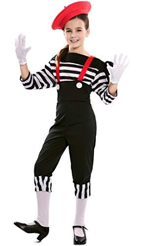EUROCARNAVALES Disfraz de Mimo Circo para niña 7 a 9 años