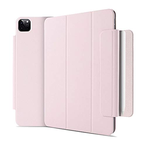 GHC PAD Cases & Covers For iPad Pro 11 2020, Magnetic Smart PU Flip Cover Skin Shell With Pencil Holder For iPad Pro 12.9 2020 4th Generation (Color : Pink, Size : For ipad pro 11 2020)
