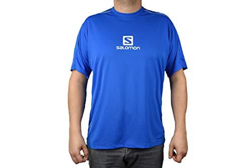 SALOMON Stroll Logo SS M T-Shirt à Manches Courtes pour Homme, Bleu (Prince Blue), L