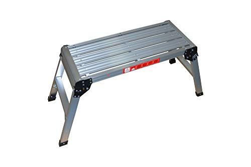 Werkplatform, klaptrap van aluminium met veiligheidsvergrendeling.