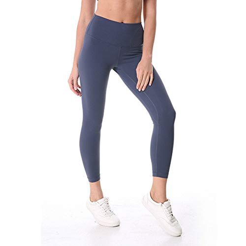 Mdsfe Sport-fitnessbroek dames effen high taille gym hardloopbroek stretch nylon + spandex yogabroek X-Large Grijs A185
