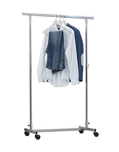 BE.MAR - Perchero de base completa con barra para colgar de 100 + 70 cm, regulable en altura de 110 a 180 cm, soporte para armario