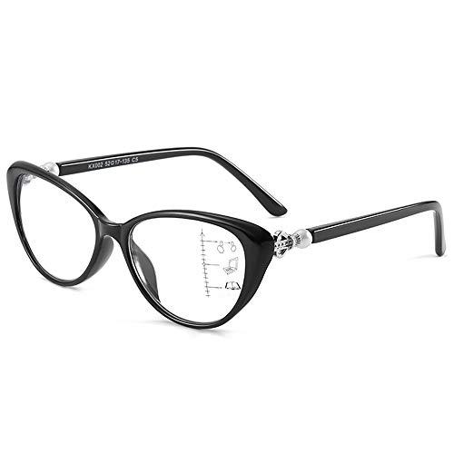 QXQX leesbril voor dames, met vergrootglas, blauw licht, bril om te lezen, veerscharnieren, modieus, 1,00, 1,50, 2,00, 2,50, 3,00, 3,50.