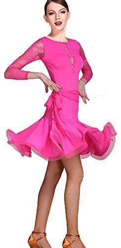 Costume De Costume Costume De Danse Latine Femelle Adulte À Manches Longues, Robes De Danse Latine Professionnelles Cha Cha Rumba Vêtements De Danse Costume De Formation 2PCS